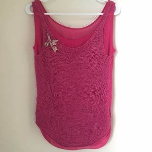 JUICY COUTURE KNIT EMBELLISHED PINK TOP